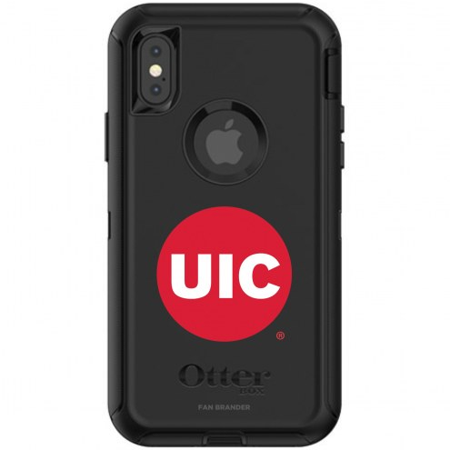 Illinois-Chicago Flames OtterBox iPhone X/Xs Defender Black Case