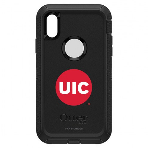 Illinois-Chicago Flames OtterBox iPhone XR Defender Black Case