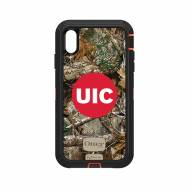 Illinois-Chicago Flames OtterBox iPhone XS Max Defender Realtree Camo Case