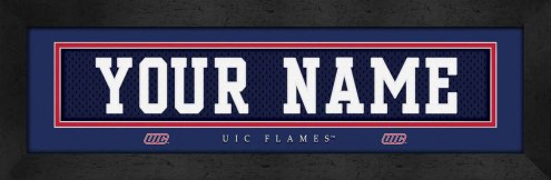 Illinois-Chicago Flames Personalized Stitched Jersey Print