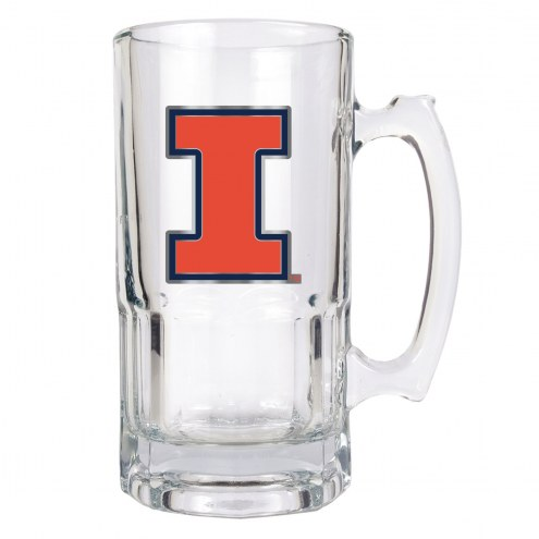 Illinois Fighting Illini College 1 Liter Glass Macho Mug