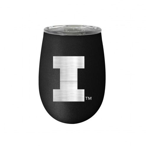Illinois Fighting Illini 10 oz. Stealth Blush Wine Tumbler