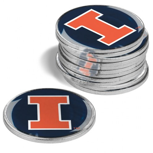 Illinois Fighting Illini 12-Pack Golf Ball Markers