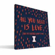"Illinois Fighting Illini 12"" x 12"" All You Need Canvas Print"