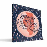"Illinois Fighting Illini 12"" x 12"" Born a Fan Canvas Print"
