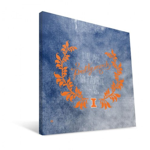 "Illinois Fighting Illini 12"" x 12"" Favorite Thing Canvas Print"