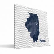 "Illinois Fighting Illini 12"" x 12"" Home Canvas Print"