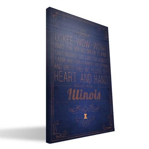 "Illinois Fighting Illini 16"" x 24"" Song Canvas Print"