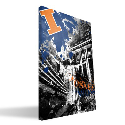 "Illinois Fighting Illini 16"" x 24"" Spirit Canvas Print"