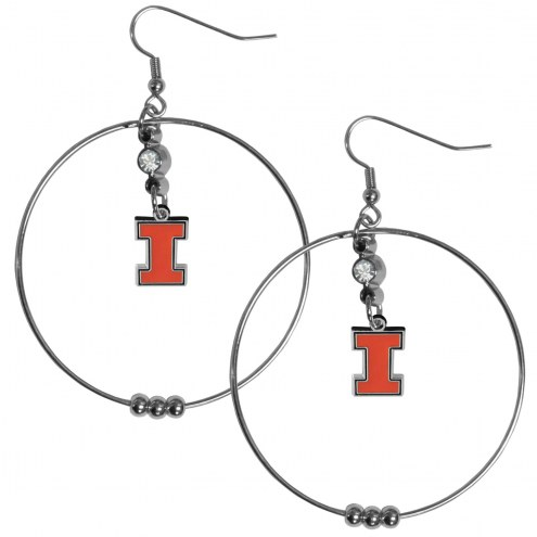 "Illinois Fighting Illini 2"""" Hoop Earrings"
