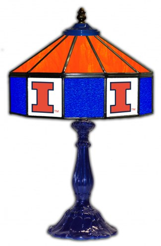 "Illinois Fighting Illini 21"" Glass Table Lamp"