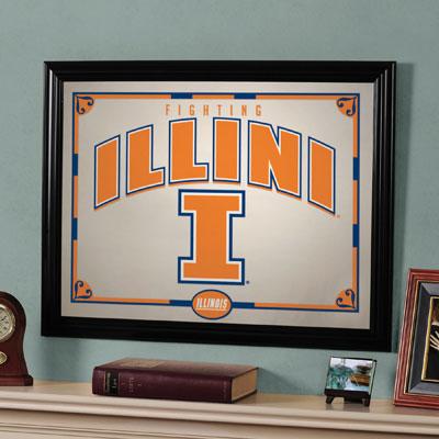 """Illinois Fighting Illini 23"""" x 18"""" Mirror"""