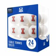 Illinois Fighting Illini 24 Count Ping Pong Balls