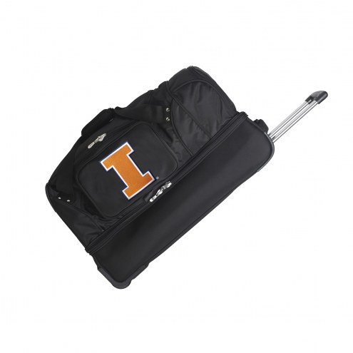 "Illinois Fighting Illini 27"" Drop Bottom Wheeled Duffle Bag"