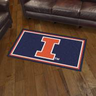Illinois Fighting Illini 3' x 5' Area Rug