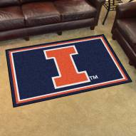 Illinois Fighting Illini 4' x 6' Area Rug