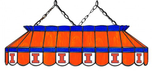 "Illinois Fighting Illini 40"" Stained Glass Pool Table Light"