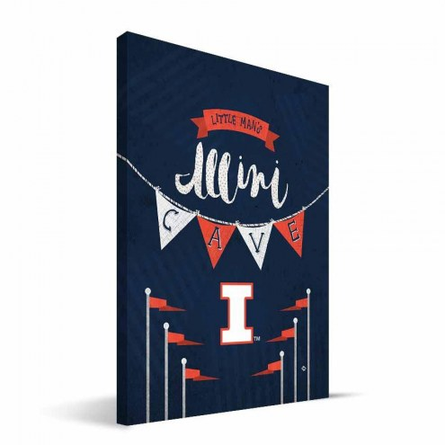 "Illinois Fighting Illini 8"" x 12"" Little Man Canvas Print"