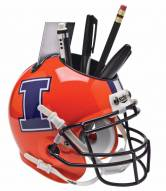 Illinois Fighting Illini Alternate 2 Schutt Football Helmet Desk Caddy