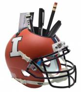 Illinois Fighting Illini Alternate 3 Schutt Football Helmet Desk Caddy
