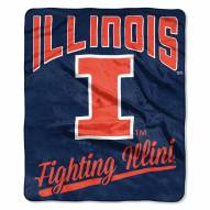 Illinois Fighting Illini Alumni Raschel Throw Blanket