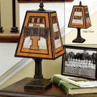 Illinois Fighting Illini Art Glass Table Lamp