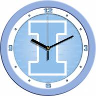 Illinois Fighting Illini Baby Blue Wall Clock