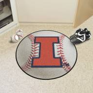 Illinois Fighting Illini Baseball Rug