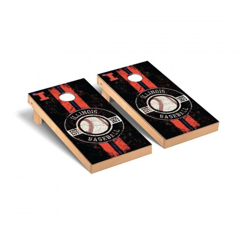 Illinois Fighting Illini Baseball Vintage Cornhole Game Set