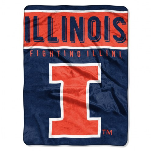Illinois Fighting Illini Basic Plush Raschel Blanket
