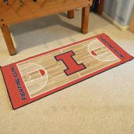 Illinois Fighting Illini Basketball Court Runner Rug