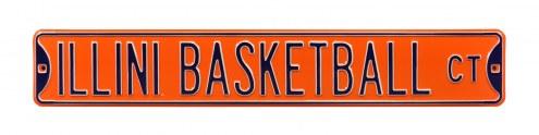 Illinois Fighting Illini Basketball Street Sign