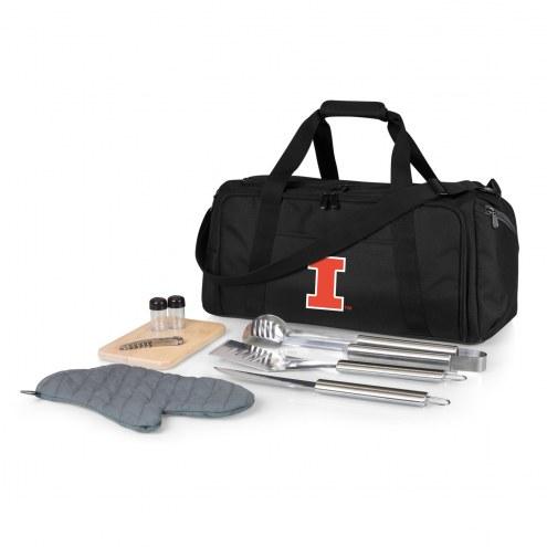 Illinois Fighting Illini BBQ Kit Cooler