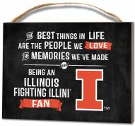 Illinois Fighting Illini Best Things Small Plaque