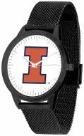 Illinois Fighting Illini Black Mesh Statement Watch