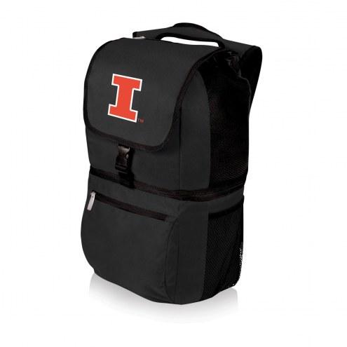 Illinois Fighting Illini Black Zuma Cooler Backpack