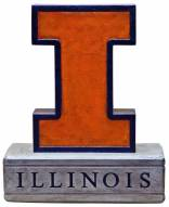 """Illinois Fighting Illini """"Block I"""" Stone College Mascot"""