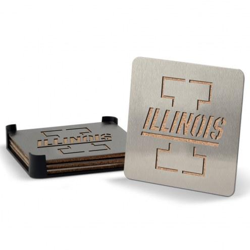 Illinois Fighting Illini Boasters Stainless Steel Coasters - Set of 4