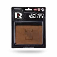 Illinois Fighting Illini Brown Leather Trifold Wallet