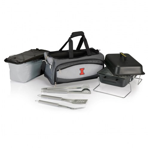 Illinois Fighting Illini Buccaneer Grill, Cooler and BBQ Set