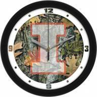 Illinois Fighting Illini Camo Wall Clock