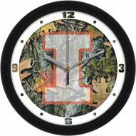 Illinois Fighting Illini Camo Wall Clock