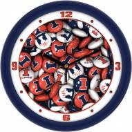 Illinois Fighting Illini Candy Wall Clock