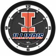 Illinois Fighting Illini Carbon Fiber Wall Clock
