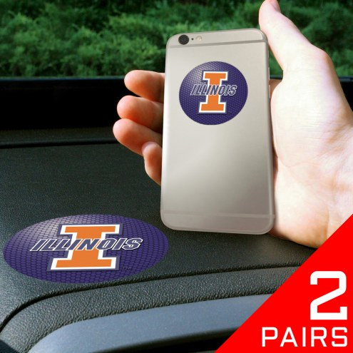 Illinois Fighting Illini Cell Phone Grips - 2 Pack