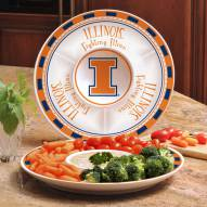 Illinois Fighting Illini Ceramic Chip and Dip Serving Dish