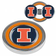 Illinois Fighting Illini Challenge Coin with 2 Ball Markers