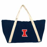 Illinois Fighting Illini Chevron Stitch Weekender Bag