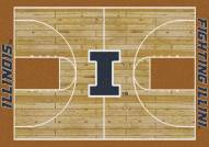 Illinois Fighting Illini College Home Court Area Rug