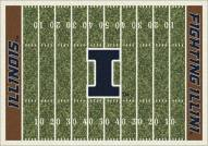 Illinois Fighting Illini College Home Field Area Rug